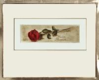 Rose / Radierung im Modellrahmen  1276