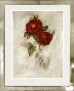 Rose / Radierung im Modellrahmen /Weißgold 1623