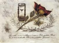 Radierung - Rose 1682