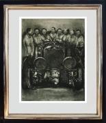 Radierung / 90 Jahre Bentley im Modellrahmen