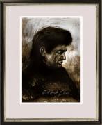 Johnny Cash / Gouache / Digitaldruck