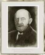Radierung / Portrait Emil von Behring