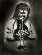 Radierung / Miles Davis