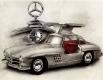 Mercedes 300 SL / Radierung Art.Nr.: 1085