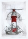 Radierung - Leuchtturm Borkum 1256