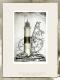 Radierung / Leuchtturm Kampen Sylt