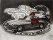 Mercedes 300 SL / Radierung Art.Nr.: 1500