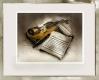 Radierung / Geige im Modellrahmen 516