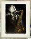 Radierung / Jazz-Saxophon