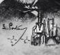Radierung / Louis Pasteur
