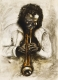 Miles Davis 2 / Gouache, Digitaldruck, handsigniert