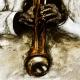 Miles Davis 2 / Gouache, Digitaldruck, handsigniert