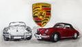 Radierung Porsche 356 SC