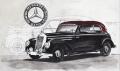 Mercedes-Bens 170S - Radierung