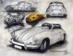 Radierung - Porsche 356 SC